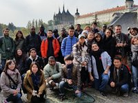 Our international students on a trip