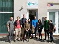 ICARD students during the field trip to headquarter of Czech Development NGO ADRA