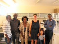 Academic staff of the College of Agriculture in the laboratory of Molecular genetics