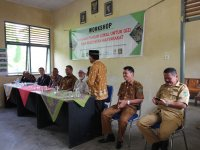 The project team and local government are opening workshop in Minang area